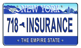 mark for NEW YORK 718 INSURANCE THE EMPIRE STATE, trademark #77396016