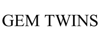 mark for GEM TWINS, trademark #77404959