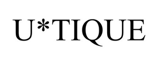 mark for U*TIQUE, trademark #77411447