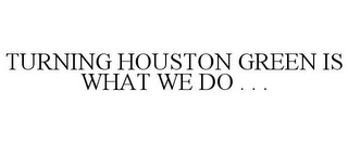 mark for TURNING HOUSTON GREEN IS WHAT WE DO . . ., trademark #77426633