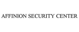 mark for AFFINION SECURITY CENTER, trademark #77429946