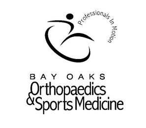 mark for BAY OAKS ORTHOPAEDICS & SPORTS MEDICINEPROFESSIONALS IN MOTION, trademark #77436297