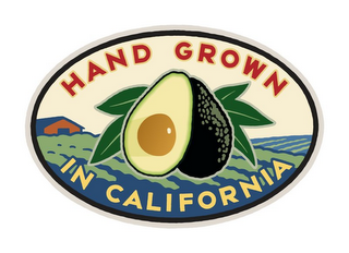 mark for HAND GROWN IN CALIFORNIA, trademark #77441806