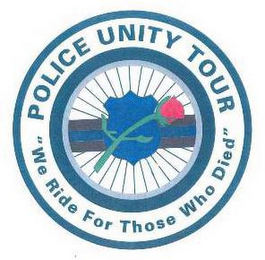 "mark for POLICE UNITY TOUR ""WE RIDE FOR THOSE WHO DIED"", trademark #77446200"
