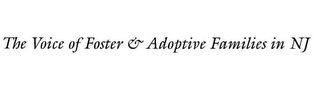 mark for THE VOICE OF FOSTER & ADOPTIVE FAMILIES IN NJ, trademark #77451606