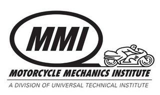 mark for MMI MOTORCYCLE MECHANICS INSTITUTE A DIVISION OF UNIVERSAL TECHNICAL INSTITUTE, trademark #77453752