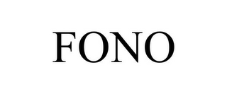 mark for FONO, trademark #77471059