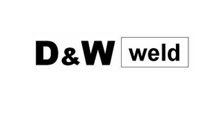 mark for D&W WELD, trademark #77478114