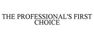 mark for THE PROFESSIONAL'S FIRST CHOICE, trademark #77480802