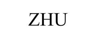 mark for ZHU, trademark #77514977