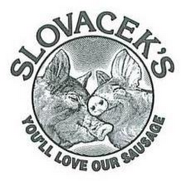 mark for SLOVACEK'S YOU'LL LOVE OUR SAUSAGE, trademark #77517274