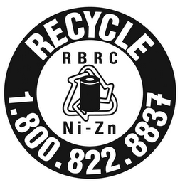 mark for RBRC NI-ZN RECYCLE 1.800.822.8837, trademark #77523832