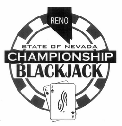 mark for RENO STATE OF NEVADA CHAMPIONSHIP POKER GSR, trademark #77524757
