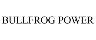 mark for BULLFROG POWER, trademark #77541266