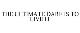 mark for THE ULTIMATE DARE IS TO LIVE IT, trademark #77577978