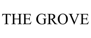 mark for THE GROVE, trademark #77595806