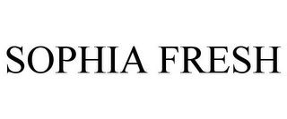 mark for SOPHIA FRESH, trademark #77609439