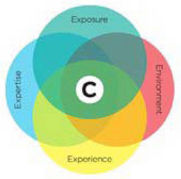 mark for C EXPOSURE ENVIRONMENT EXPERIENCE EXPERTISE, trademark #77619598