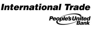 mark for INTERNATIONAL TRADE PEOPLE'S UNITED BANK, trademark #77629594