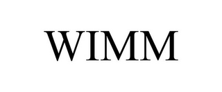 mark for WIMM, trademark #77637298