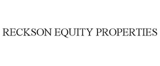 mark for RECKSON EQUITY PROPERTIES, trademark #77638048