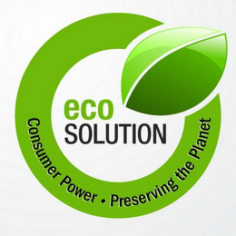 mark for ECO SOLUTION CONSUMER POWER · PRESERVING THE PLANET, trademark #77642233