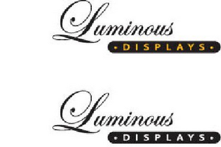 mark for LUMINOUS ? DISPLAYS ? LUMINOUS ? DISPLAYS ·, trademark #77665895