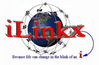 mark for ILINKX BECAUSE LIFE CAN CHANGE IN THE BLINK OF AN I, trademark #77667583