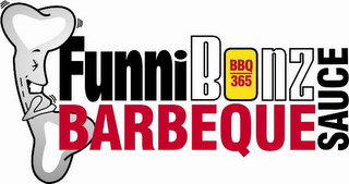 mark for FUNNIBONZ BARBEQUE SAUCE BBQ 365, trademark #77683119