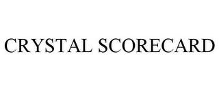 mark for CRYSTAL SCORECARD, trademark #77689146