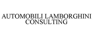 mark for AUTOMOBILI LAMBORGHINI CONSULTING, trademark #77690816