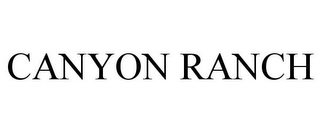 mark for CANYON RANCH, trademark #77693110