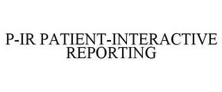 mark for P-IR PATIENT-INTERACTIVE REPORTING, trademark #77701915