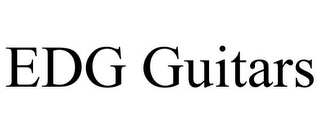 mark for EDG GUITARS, trademark #77703338