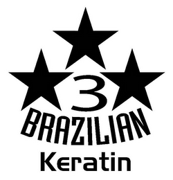 mark for 3 BRAZILIAN KERATIN, trademark #77705804