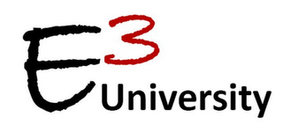 mark for E3 UNIVERSITY, trademark #77715700