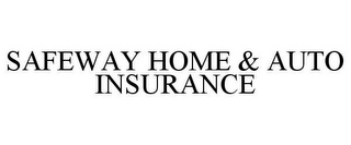 mark for SAFEWAY HOME & AUTO INSURANCE, trademark #77724372