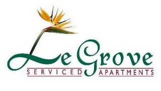 mark for LE GROVE SERVICED APARTMENTS, trademark #77757371