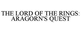 mark for THE LORD OF THE RINGS: ARAGORN'S QUEST, trademark #77764830