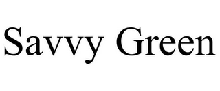 mark for SAVVY GREEN, trademark #77765304