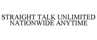 mark for STRAIGHT TALK UNLIMITED NATIONWIDE ANYTIME, trademark #77767612