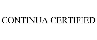 mark for CONTINUA CERTIFIED, trademark #77781044