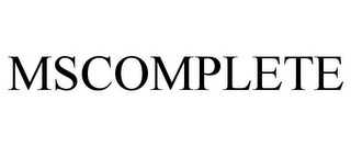 mark for MSCOMPLETE, trademark #77783370
