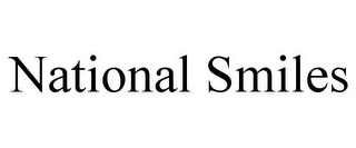 mark for NATIONAL SMILES, trademark #77783750
