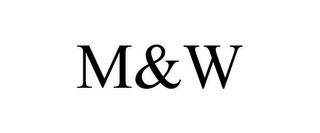 mark for M&W, trademark #77788455