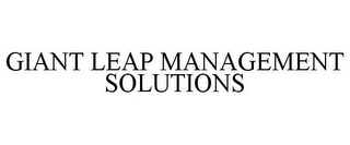 mark for GIANT LEAP MANAGEMENT SOLUTIONS, trademark #77789819