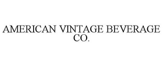 mark for AMERICAN VINTAGE BEVERAGE CO., trademark #77790537