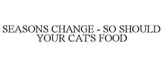 mark for SEASONS CHANGE - SO SHOULD YOUR CAT'S FOOD, trademark #77802830