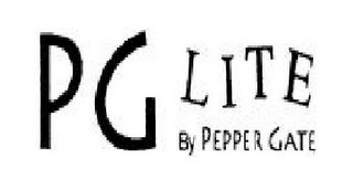 mark for PG LITE BY PEPPER GATE, trademark #77807219
