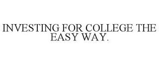 mark for INVESTING FOR COLLEGE THE EASY WAY., trademark #77812617